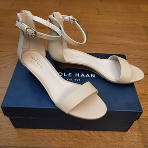 Cole Haan Nude Adderly Wedge Sandals
